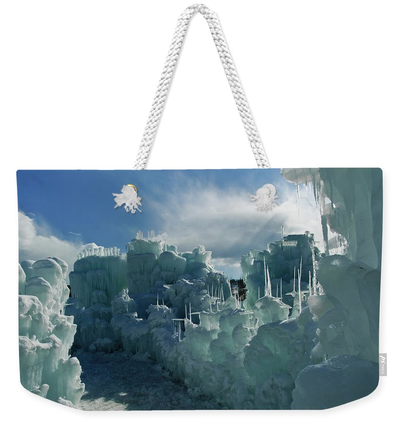 Iceberg Weekender Tote Bag featuring the photograph Ice Castle by Robin Wilson Photography