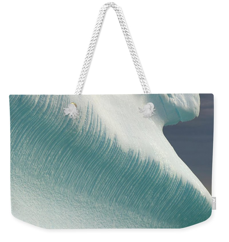 Iceberg Weekender Tote Bag featuring the photograph Iceberg, Grandidier Passage, Antarctic by Eastcott Momatiuk