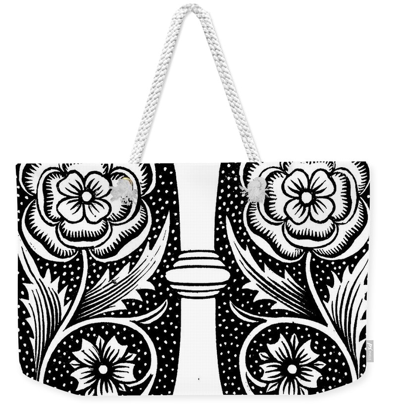 Letter I Weekender Tote Bag featuring the drawing Illuminated Letter I by English School