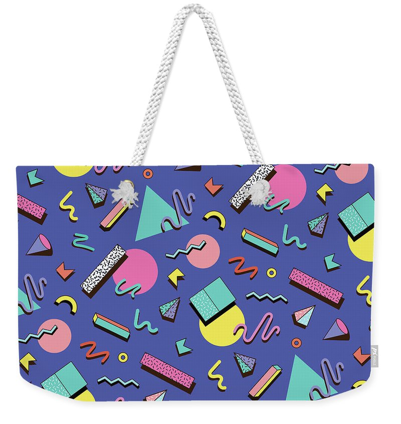 Cool Attitude Weekender Tote Bag featuring the digital art Illustration For Hipsters Style by Fighter francevna