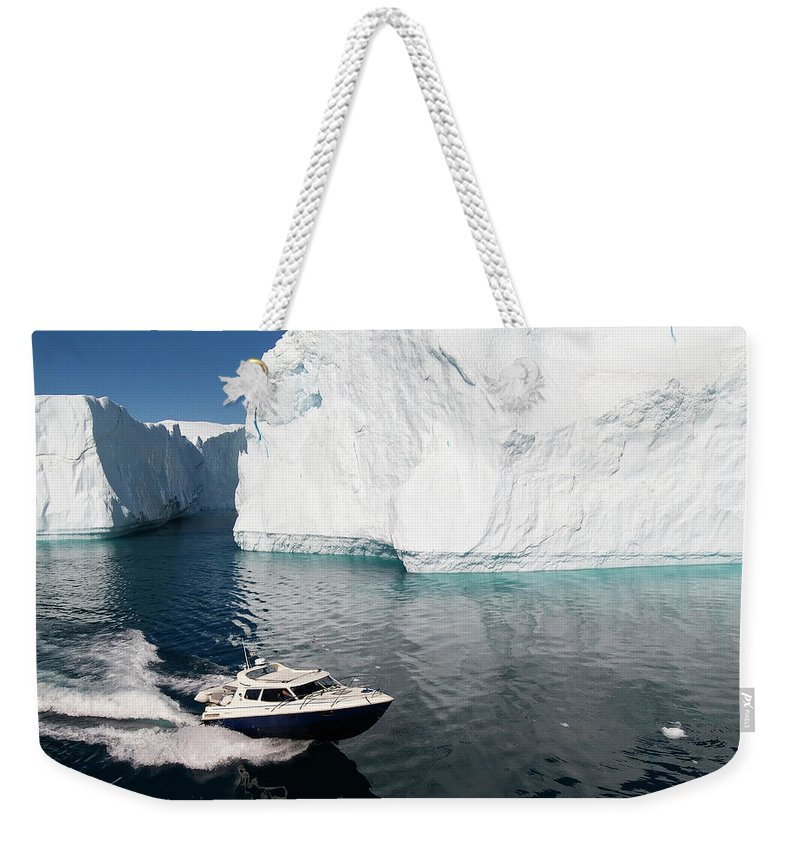 Scenics Weekender Tote Bag featuring the photograph Ilulissat, Disko Bay by Gabrielle Therin-weise