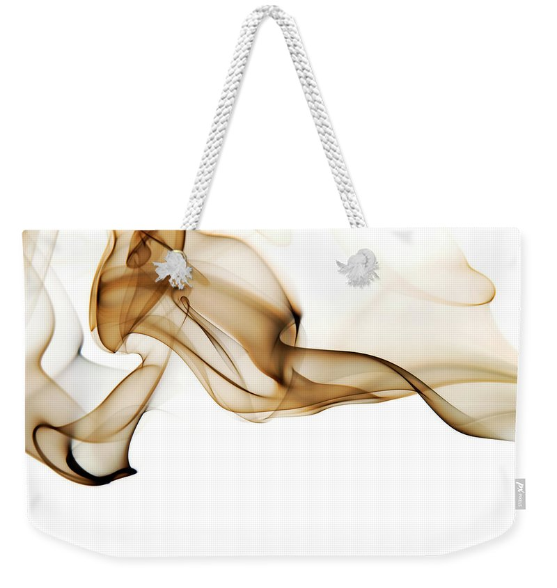 Art Weekender Tote Bag featuring the photograph Image Of High Contrast Smoke Up Against by Guarosh