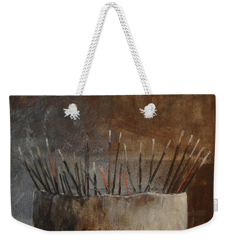 Art Weekender Tote Bag featuring the painting Incense Sticks by Lincoln Seligman