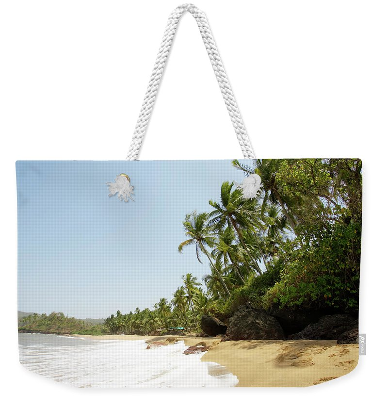 Scenics Weekender Tote Bag featuring the photograph India, Goa, Kola Beach by Sydney James