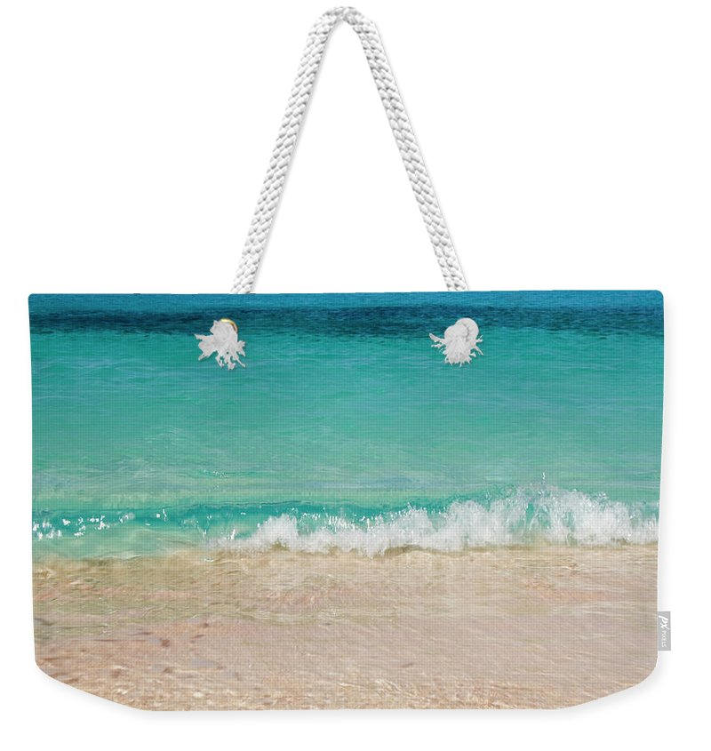 Water's Edge Weekender Tote Bag featuring the photograph Indonesia, Waves Rolling In From Indian by Joe Mcbride