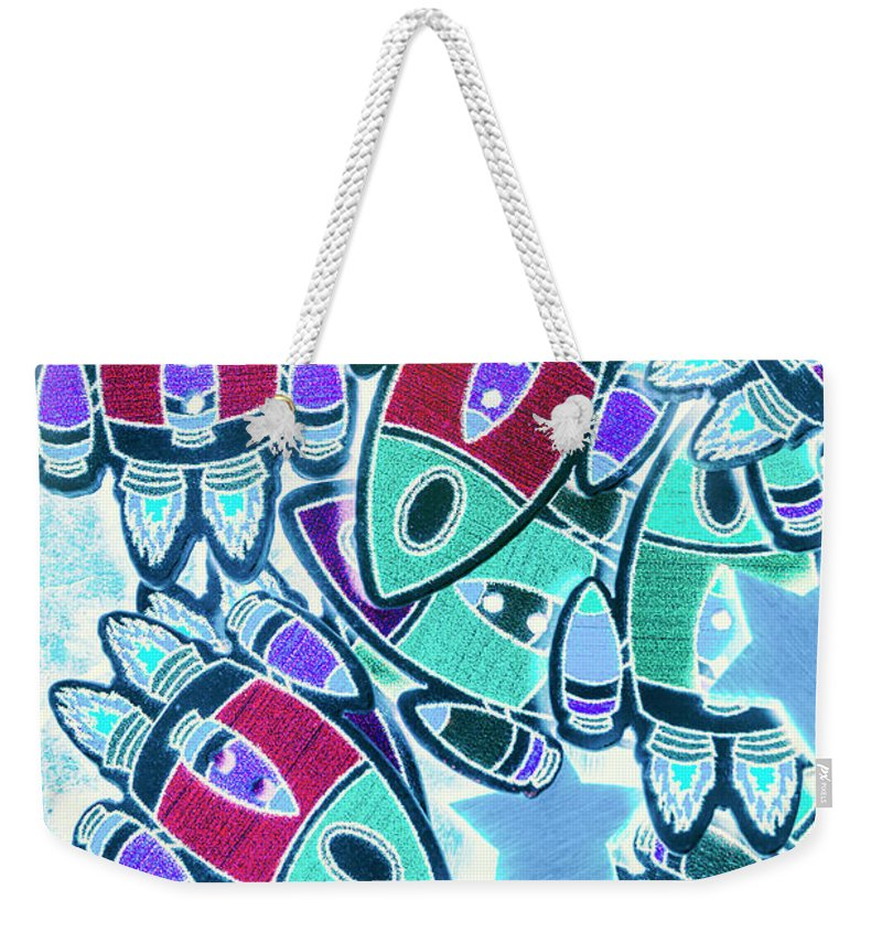 Galaxy Weekender Tote Bag featuring the photograph Intergalactic Abstract by Jorgo Photography - Wall Art Gallery