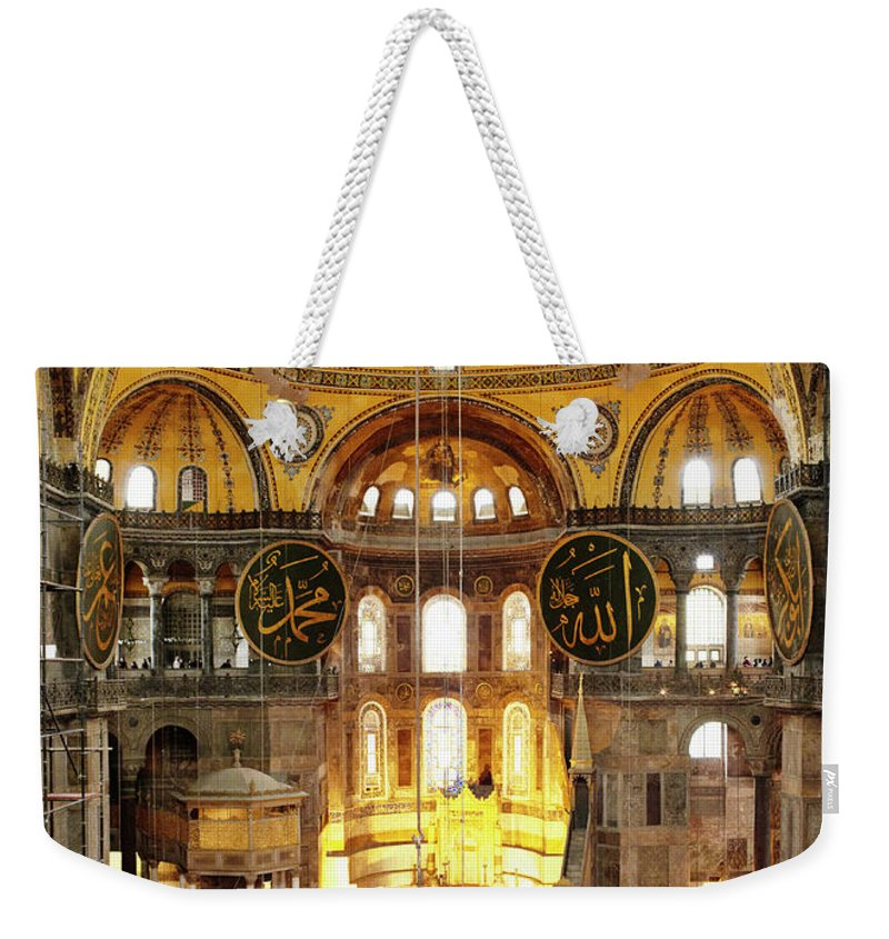 Arch Weekender Tote Bag featuring the photograph Interior Of Hagia Sophia by Silvia Otte