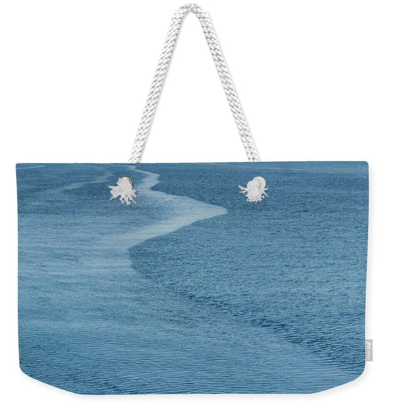 People Weekender Tote Bag featuring the photograph Inuit Man Paddling Traditionally Shaped by Andrew Peacock