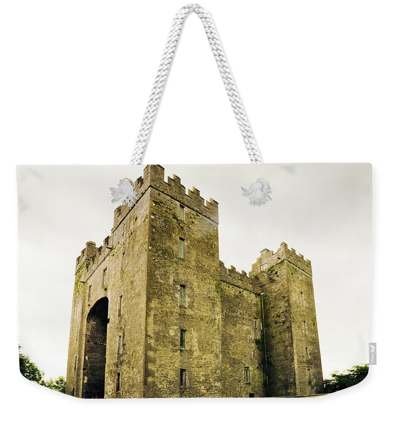 Bunratty Castle Weekender Tote Bag featuring the photograph Ireland Bunratty Castle In County by Alantobey