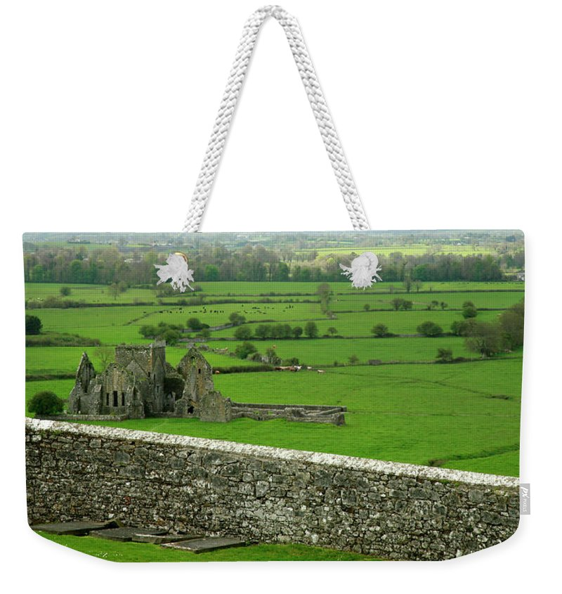 Scenics Weekender Tote Bag featuring the photograph Ireland Country Scape With Castle Ruins by Njgphoto