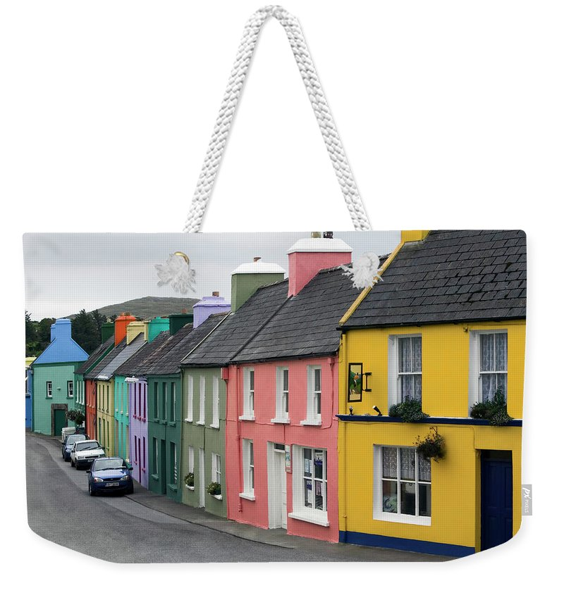 Row House Weekender Tote Bag featuring the photograph Ireland, County Cork, Beara Peninsula by Glen Allison