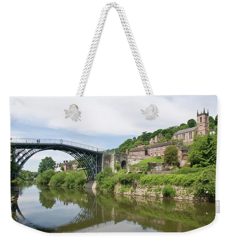 Arch Weekender Tote Bag featuring the photograph Ironbridge In Telford by Dageldog