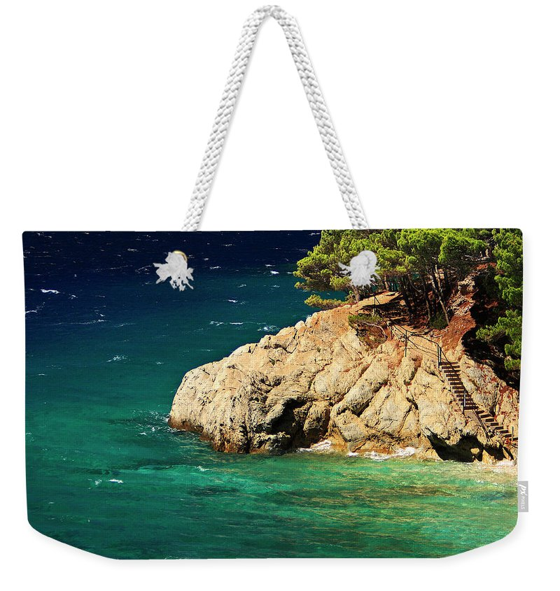 Steps Weekender Tote Bag featuring the photograph Island In The Adriatic by Tozofoto