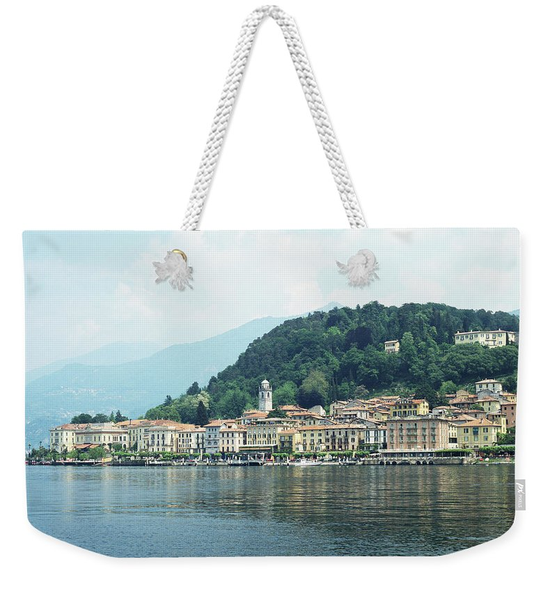 Outdoors Weekender Tote Bag featuring the photograph Italy, Lombardy, Bellagio On Lake Como by Andy Sotiriou