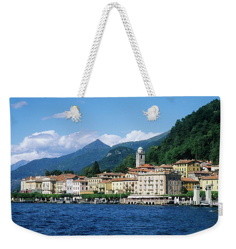 Scenics Weekender Tote Bag featuring the photograph Italy, Lombardy, Bellagio by Vincenzo Lombardo