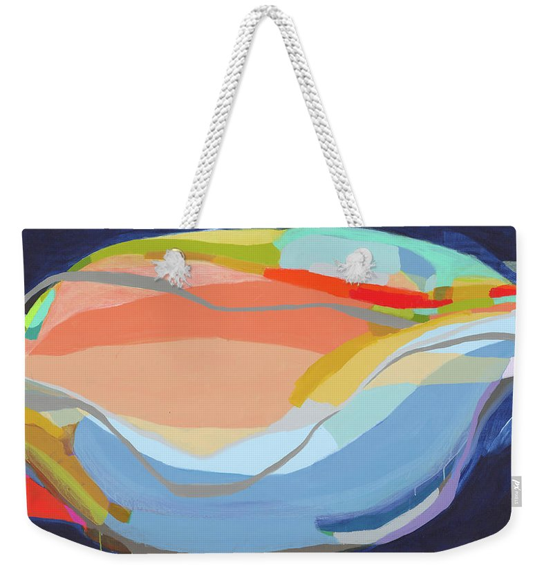 Abstract Weekender Tote Bag featuring the painting It's A New Beginning by Claire Desjardins