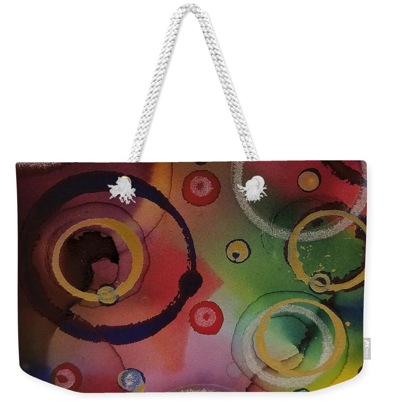 Art Weekender Tote Bag featuring the painting Its so 1970 by Paulina Roybal