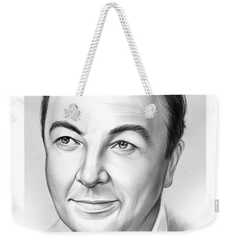 Jack Haley Weekender Tote Bag featuring the drawing Jack Haley by Greg Joens