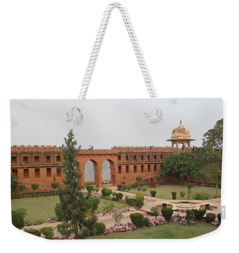 Arch Weekender Tote Bag featuring the photograph Jaigarh Fort, Amer, Jaipur, Rajasthan by Marianna Sulic