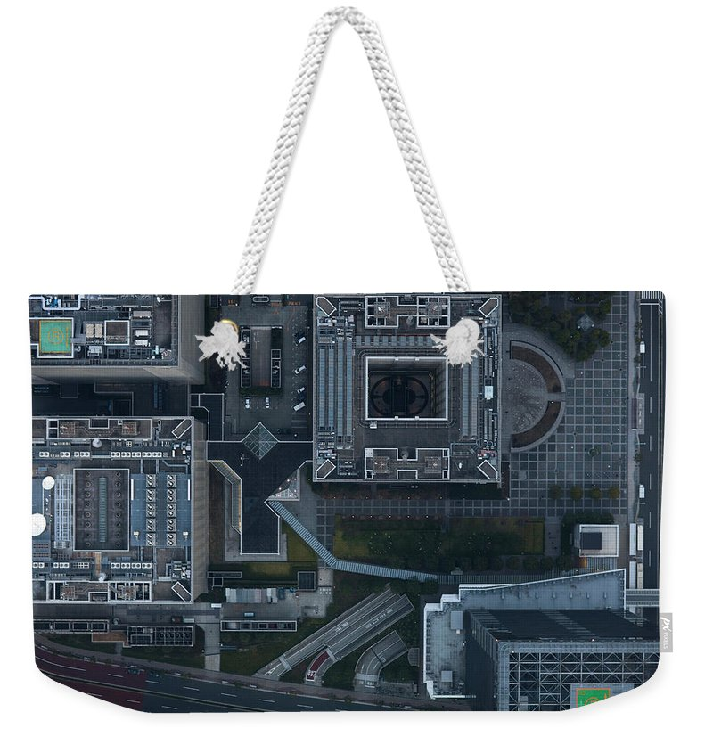 Two Lane Highway Weekender Tote Bag featuring the photograph Japan, Tokyo, Aerial View Of Shinagawa by Michael H