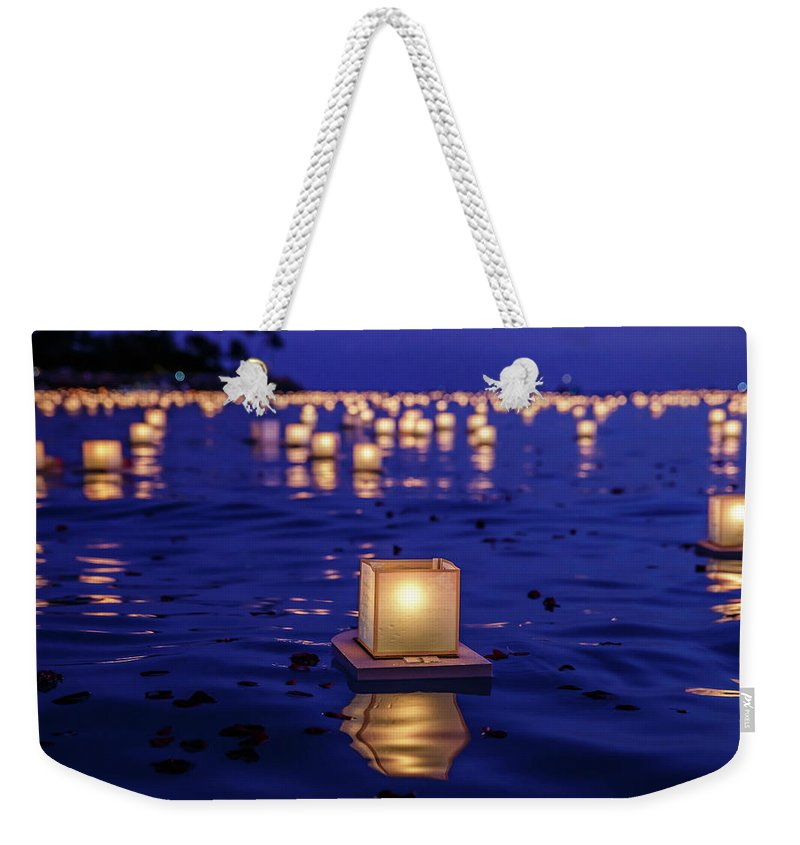 Honolulu Weekender Tote Bag featuring the photograph Japanese Floating Lanterns by Julie Thurston