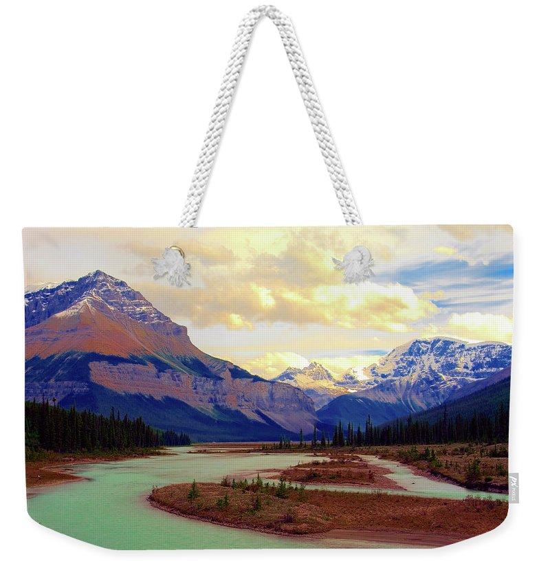 Scenics Weekender Tote Bag featuring the photograph Jasper Rockies by Teeje