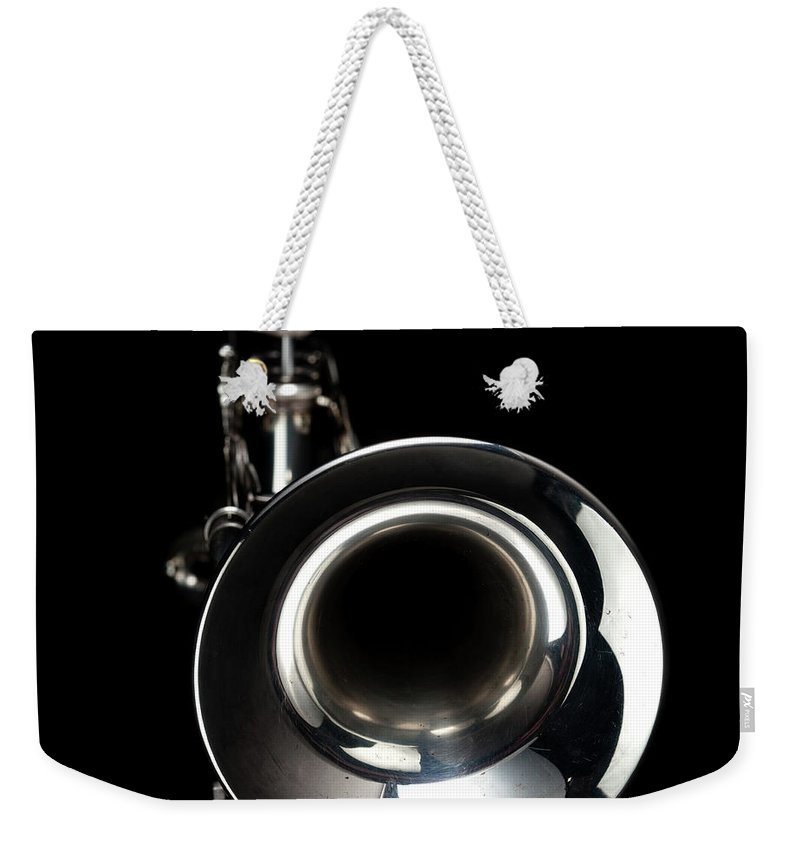 Music Weekender Tote Bag featuring the photograph Jazz Music Trumpet by Photovideostock