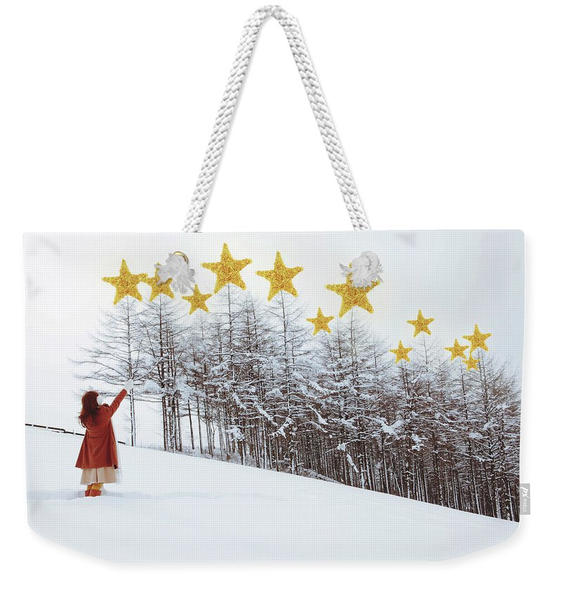 Hand Raised Weekender Tote Bag featuring the photograph Jesus, Lord, At Thy Birth by Copyright Alpsrabbit* All Rights Reserved