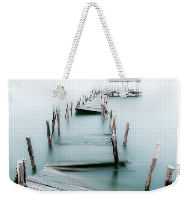 The End Weekender Tote Bag featuring the photograph Jetty by Lt Photo