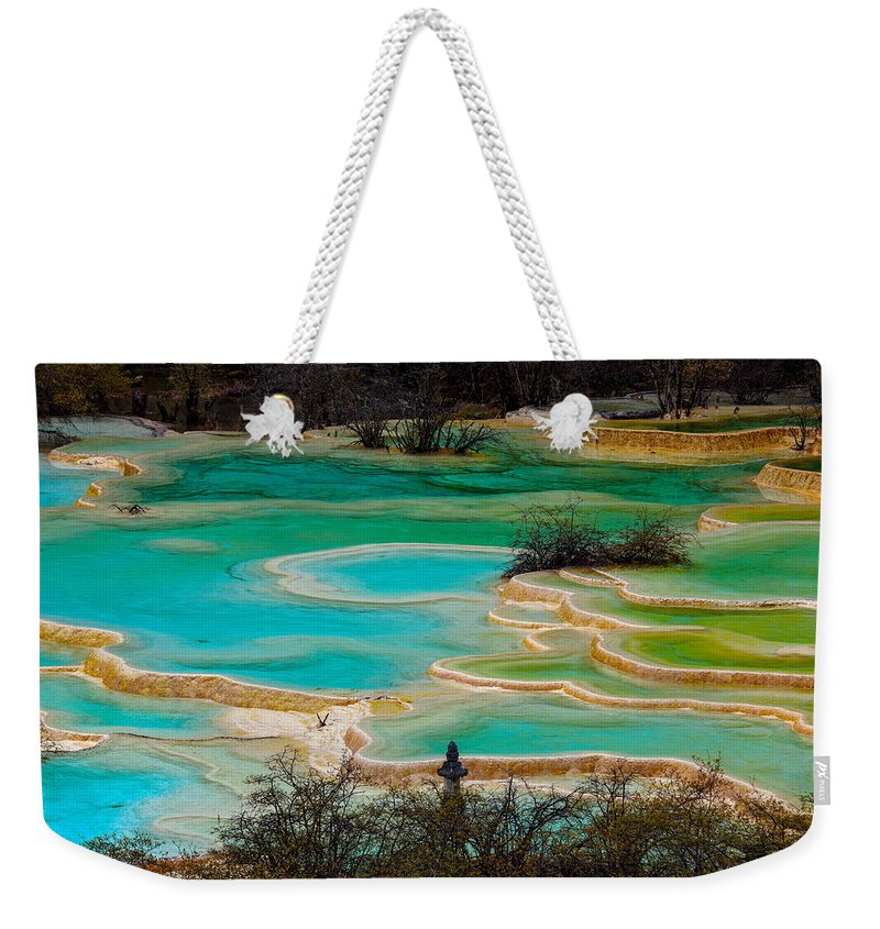 Chinese Culture Weekender Tote Bag featuring the photograph Jiuzhaigou,sichuan by View Stock