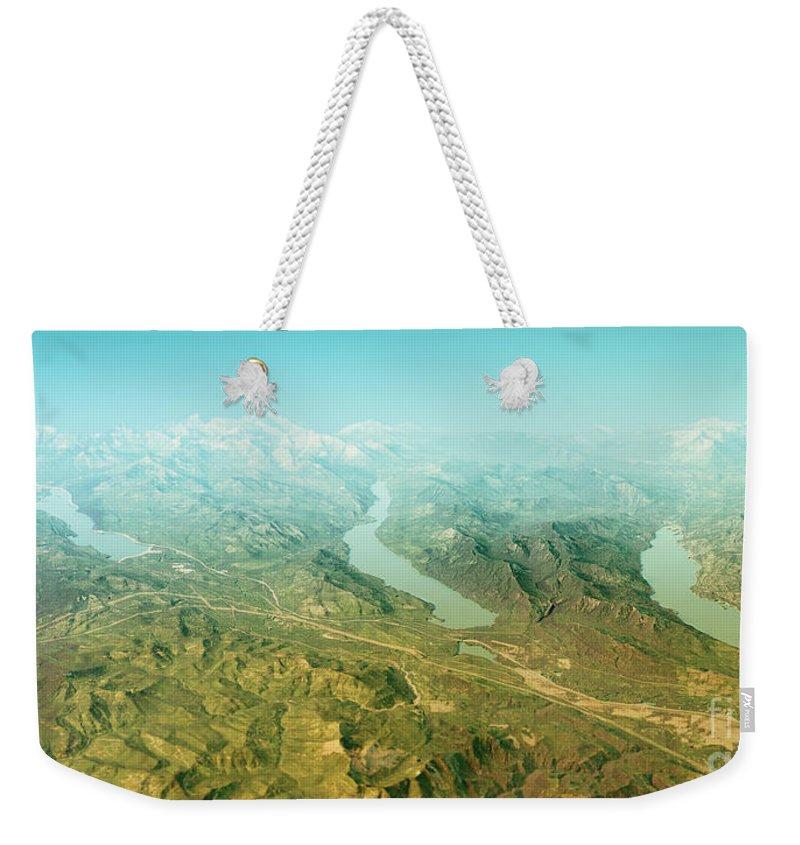 Keechelus Lake Weekender Tote Bags