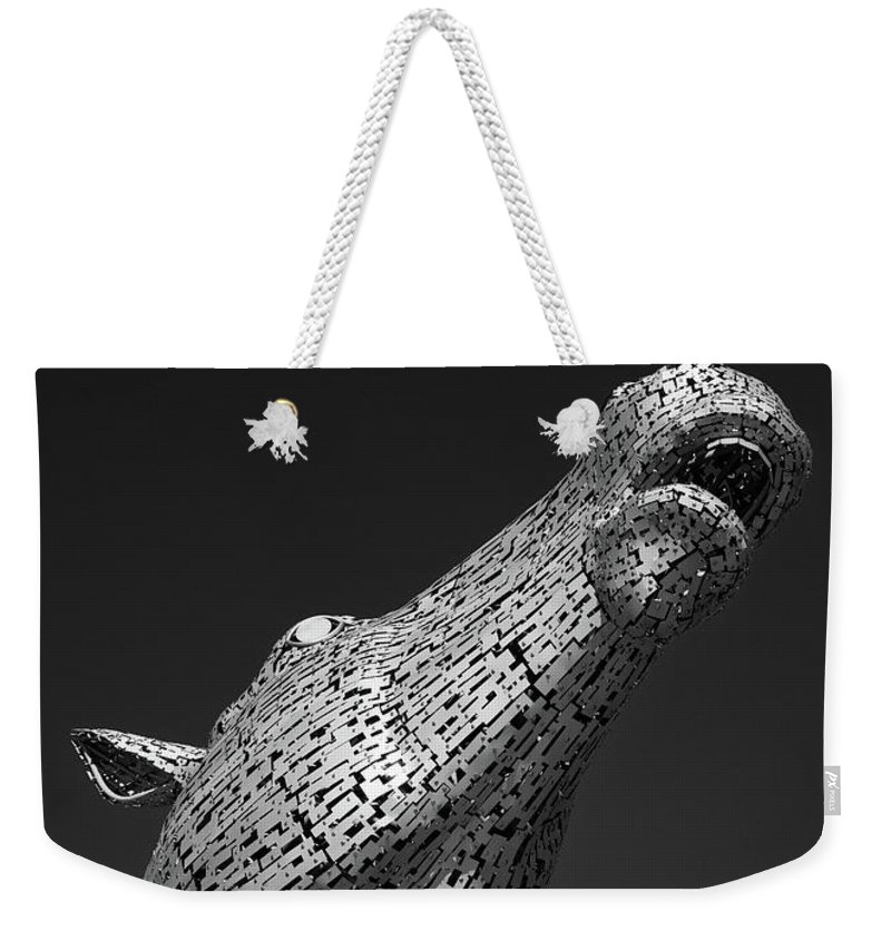 Canal Weekender Tote Bag featuring the photograph Kelpie by Dave Bowman