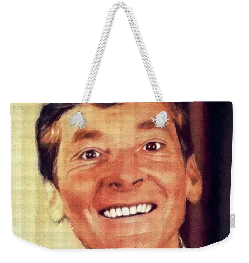Kenneth Weekender Tote Bag featuring the painting Kenneth Williams, British Actor by John Springfield