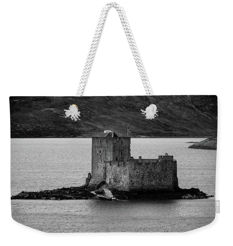 Kisimul Castle Weekender Tote Bag featuring the mixed media Kisimul Castle by Smart Aviation