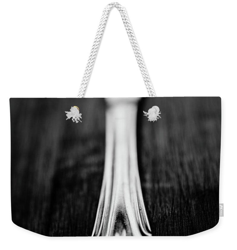 Silver Colored Weekender Tote Bag featuring the photograph Knife by Mmeemil