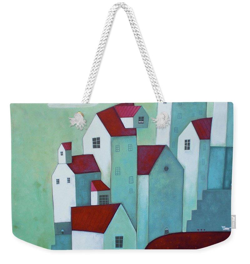 Tranquility Weekender Tote Bag featuring the digital art La Mattina Presto by © Illusimi . Simona Dimitri 2013