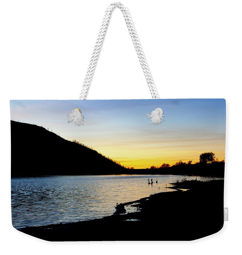 Lake Cuyamaca Weekender Tote Bag featuring the photograph Lake Cuyamaca Sunset by Anthony Jones