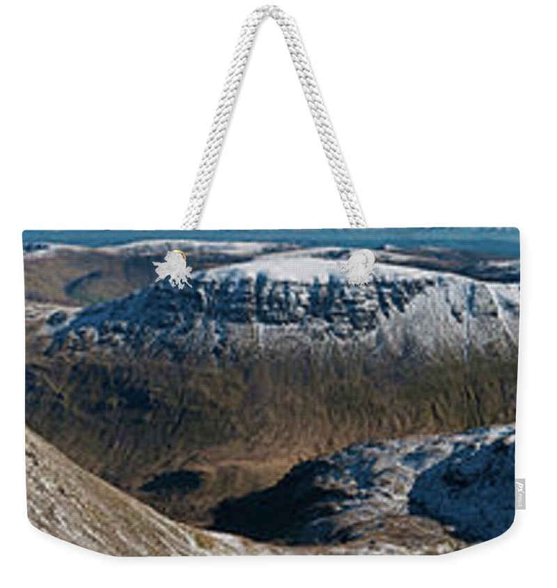 Scenics Weekender Tote Bag featuring the photograph Lake District Striding Edge Helvellyn by Fotovoyager
