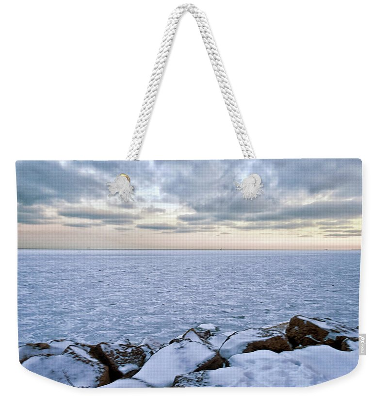 Tranquility Weekender Tote Bag featuring the photograph Lake Michigan by By Ken Ilio
