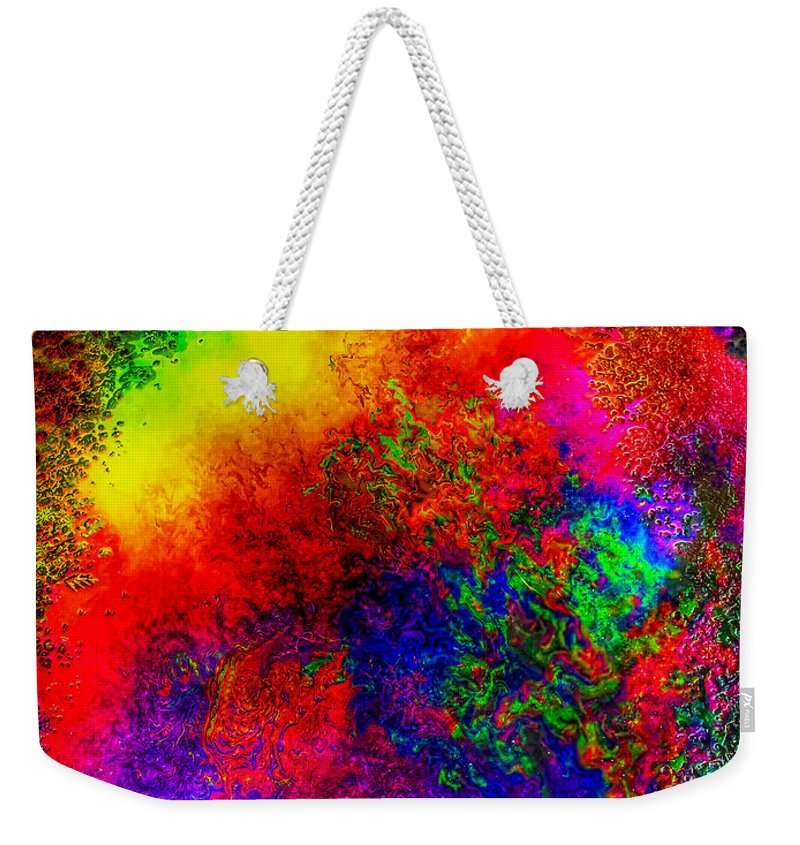 Iphone Photography Weekender Tote Bag featuring the photograph Lake Of Fire by Leona Atkinson