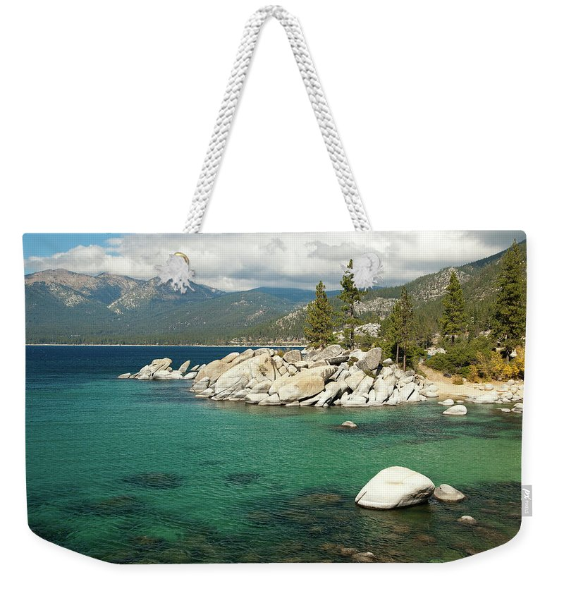 Scenics Weekender Tote Bag featuring the photograph Lake Tahoe Landscape by Megan Ahrens