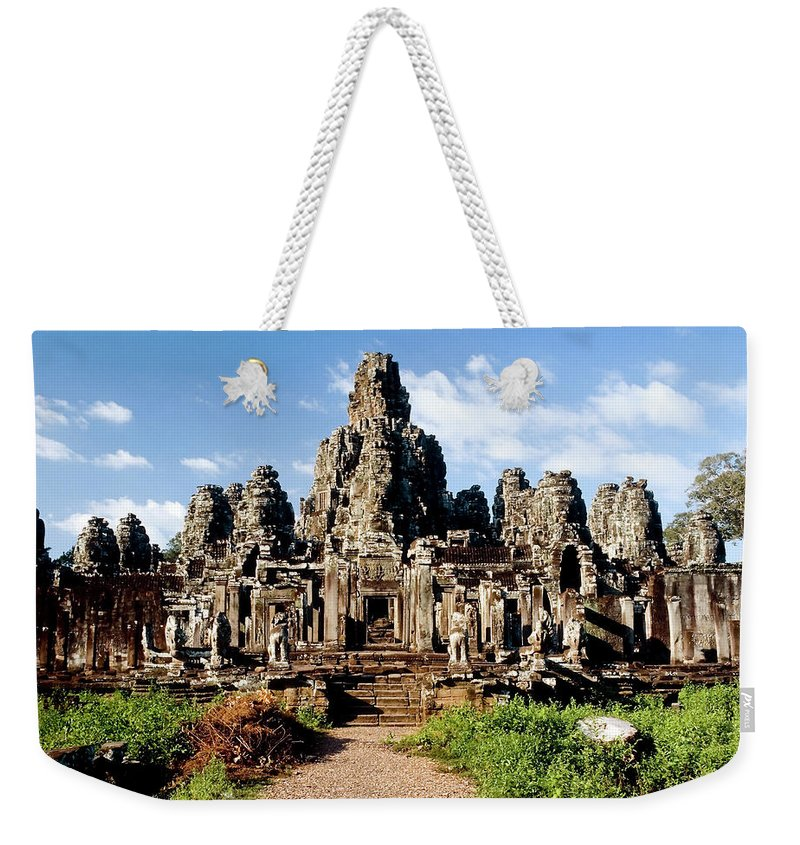 Scenics Weekender Tote Bag featuring the photograph Landscape Photo Of Bayon Temple In by Laughingmango