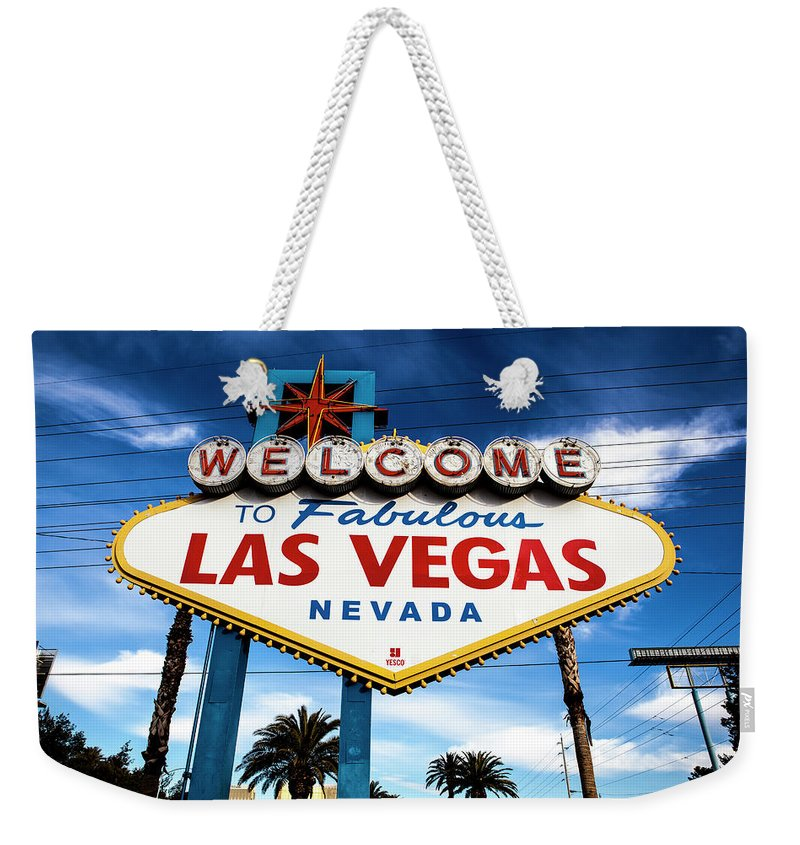Outdoors Weekender Tote Bag featuring the photograph Las Vegas by Aluma Images