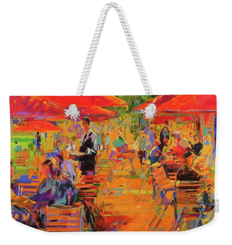 Restaurant Weekender Tote Bag featuring the painting Le Jardin Des Tuileries by Peter Graham