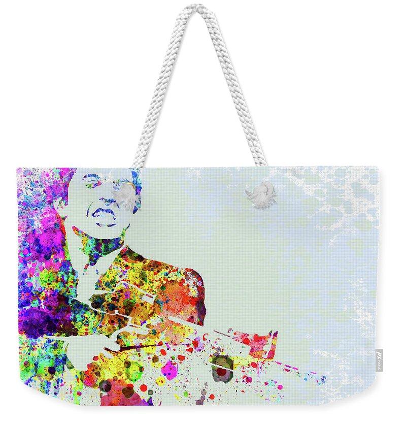 Movie Poster Mixed Media Weekender Tote Bags