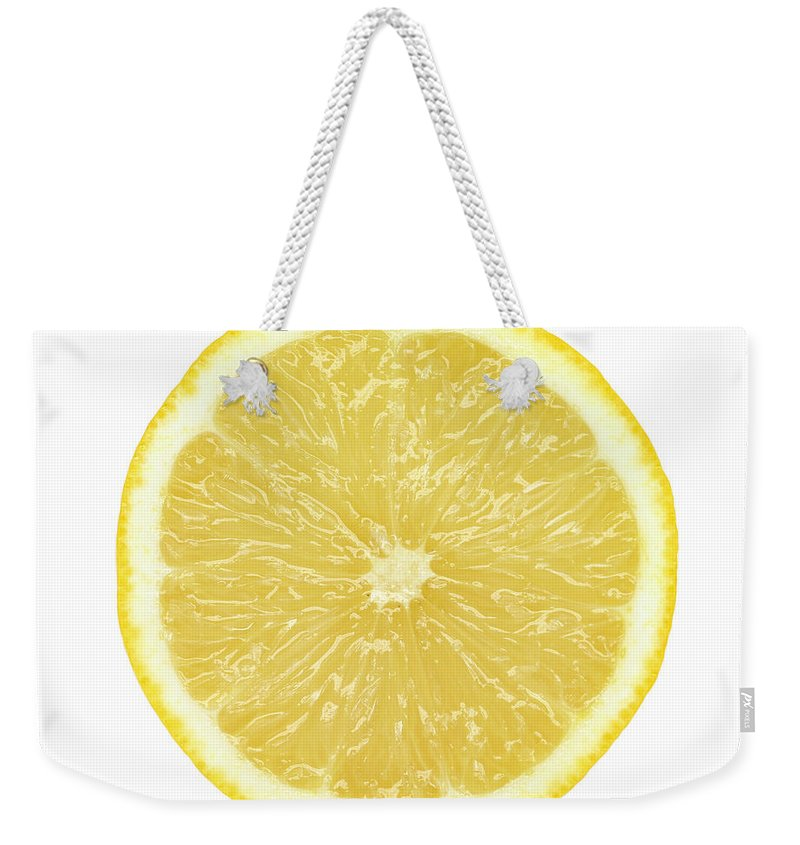 Limon Province Weekender Tote Bag featuring the photograph Lemon by Suzifoo