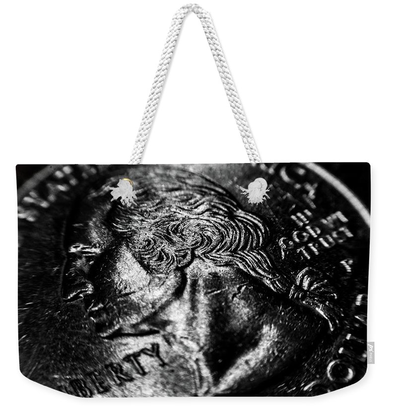 Coins Weekender Tote Bag featuring the photograph Liberty by Louis Cruz III