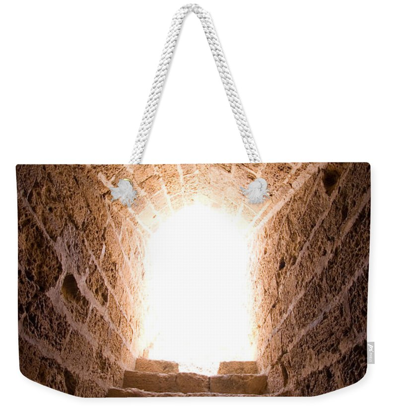 Steps Weekender Tote Bag featuring the photograph Light At End Of The Tunnel by Kreicher