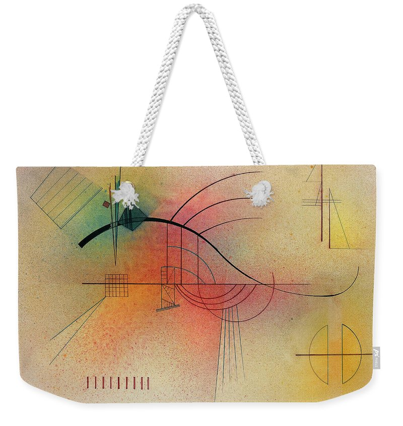 Kandinsky Line Weekender Tote Bag featuring the painting Line, 1929 by Wassily Kandinsky