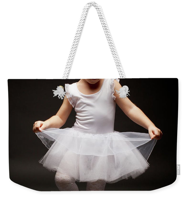 Toddler Weekender Tote Bag featuring the photograph Little Ballerina by Georgijevic